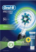 Oral B Electric Toothbrush & Toothpaste - Gift Set